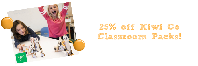 kiwi co classroom packs 25%