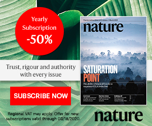 Nature Journal 50% The Marketplace Banner