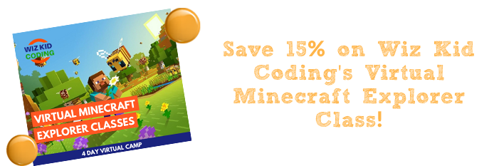 WizKid Coding Minecraft Camp Marketplace Banner