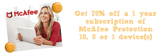 mcafee pop up marketplace chalkboard plus
